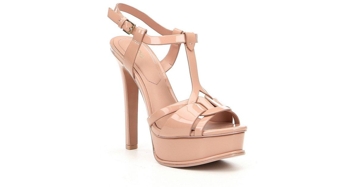 75c31406d67 Lyst - ALDO Chelly Platform Dress Sandals in Pink