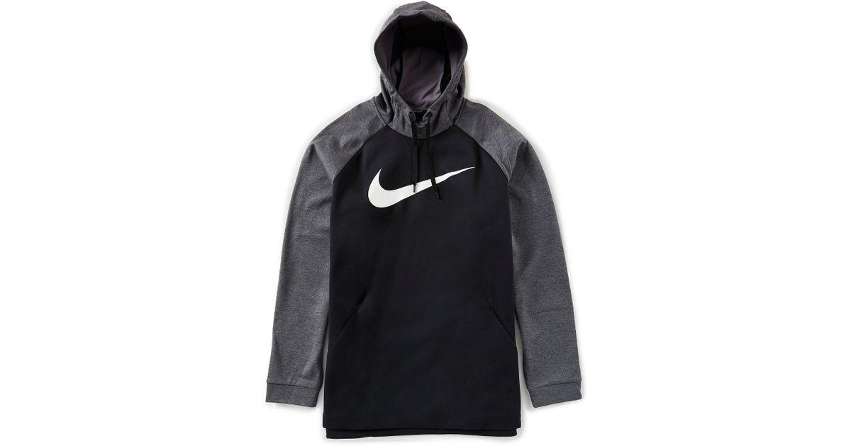 c03cc8b297 Lyst - Nike Big & Tall Therma Essential Swoosh Hoodie in Black for Men