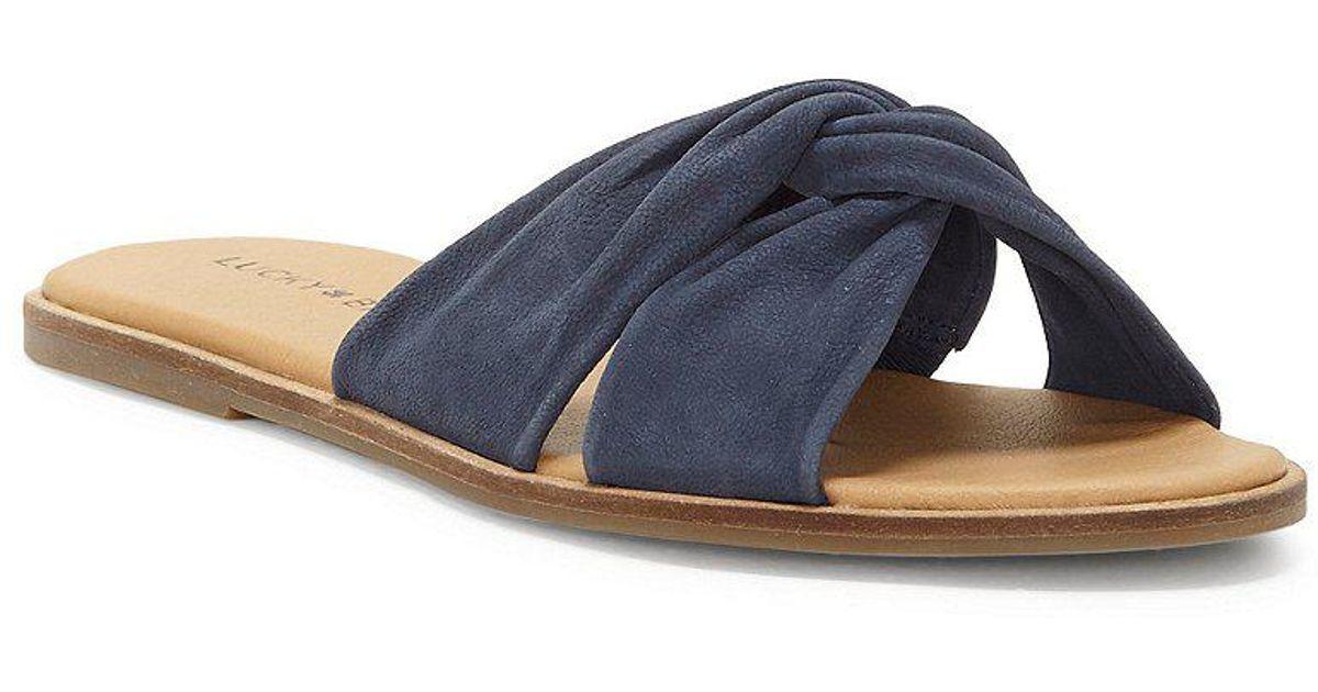 Lucky Brand Dezzee Nubuck Twist Band Flat Sandals KbWRml
