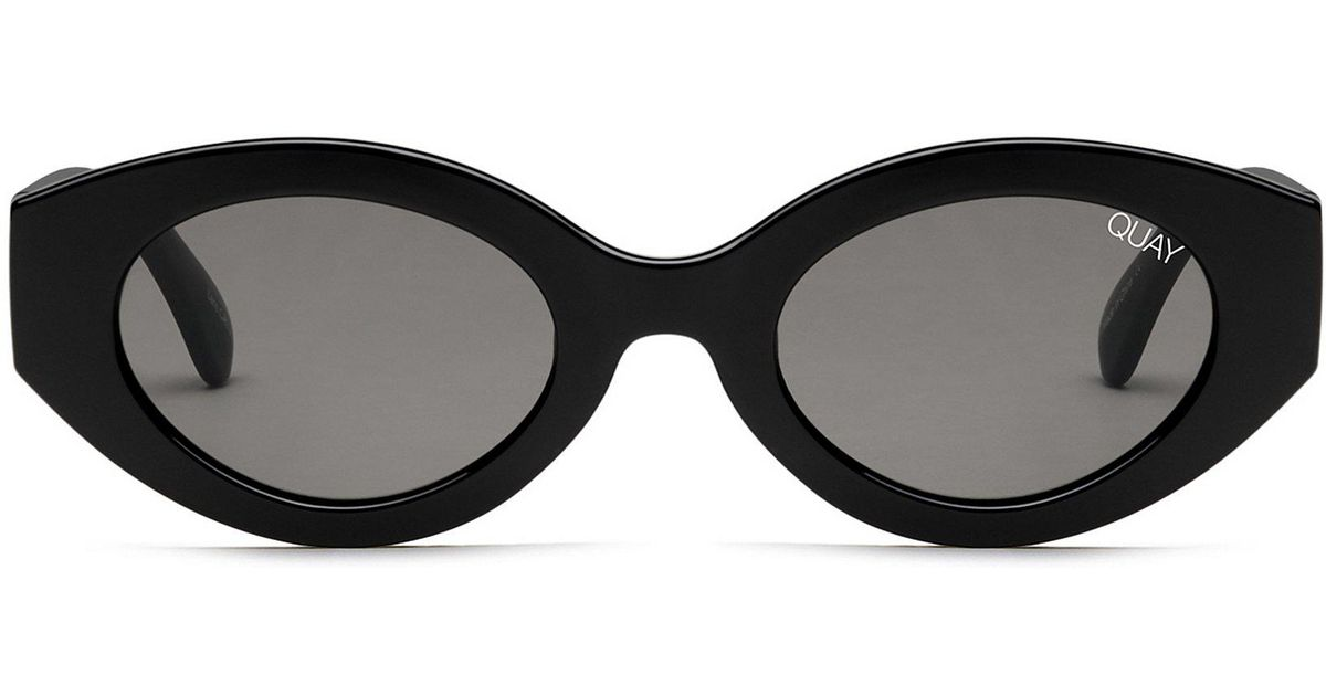 3dfbe62b23 Lyst - Quay See Me Smile Sunglasses in Black
