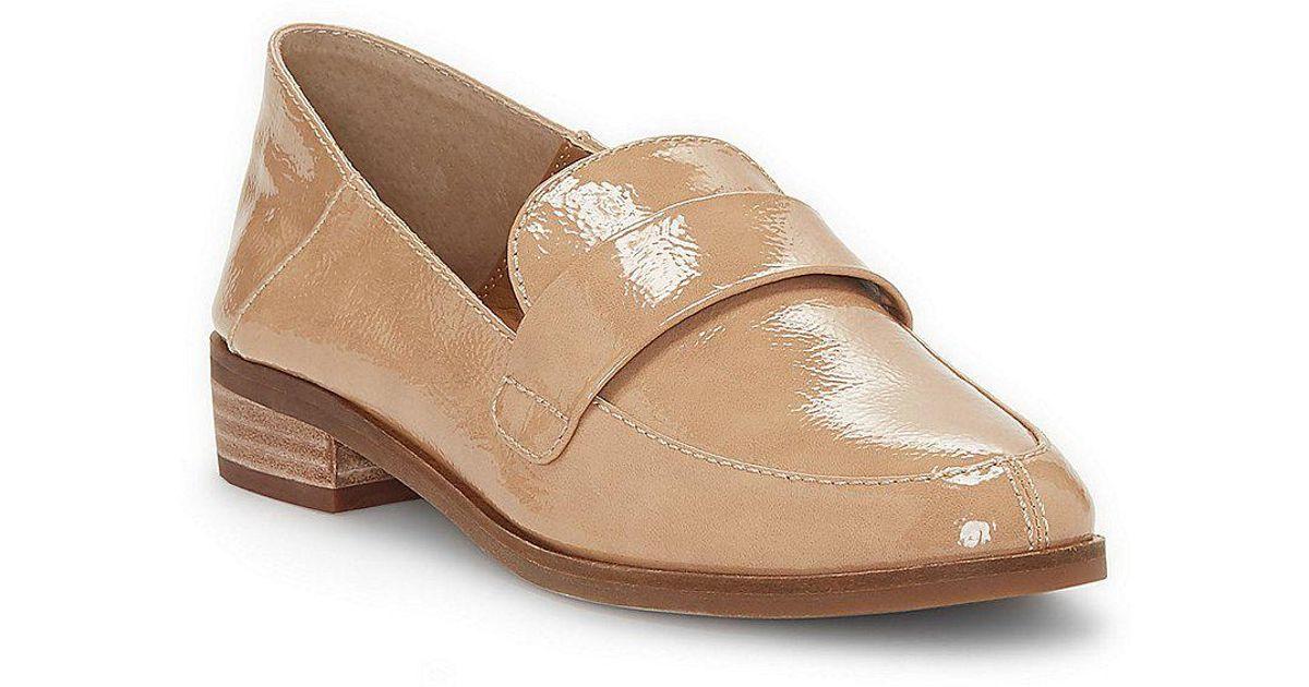 Lucky Brand Chantara Patent Convertible Back Block Heel Loafers EyyS1j1KrX