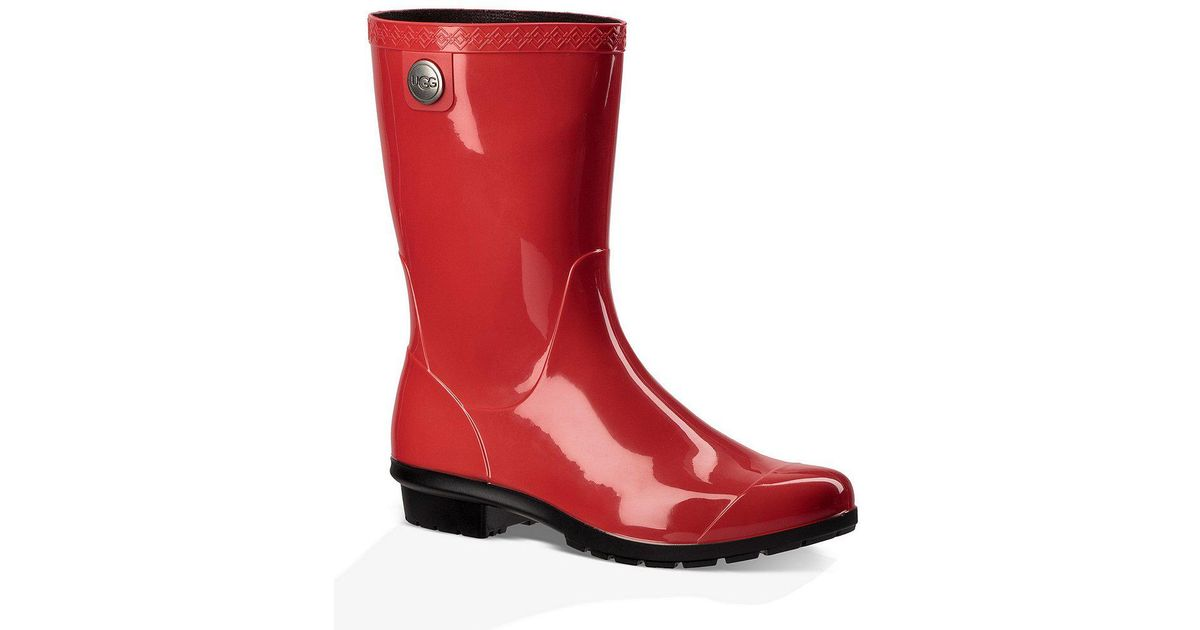 Sienna Rubber Shearling Lined Glossed Waterproof Rain Boots nzKSvh