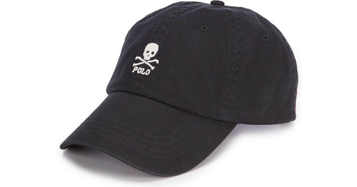 f040474d Polo Ralph Lauren Skull-and-crossbones Cap in Black for Men - Lyst