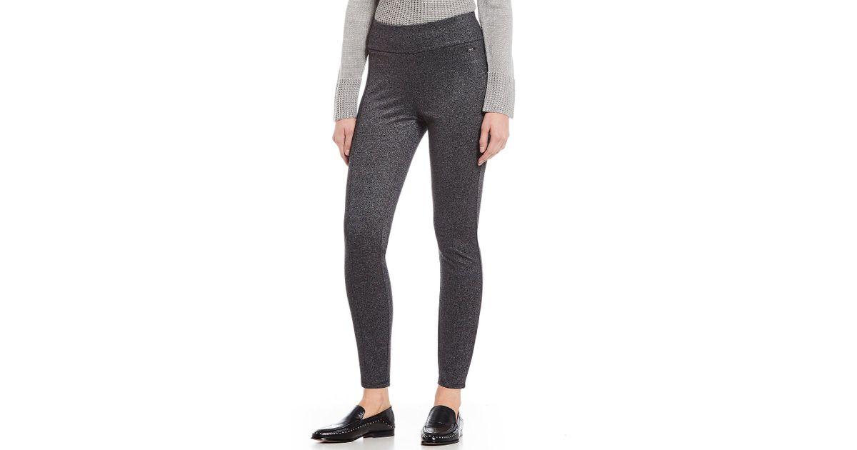a7ad4a129857c Ivanka Trump Wide Waist Ponte Knit Legging in Gray - Lyst