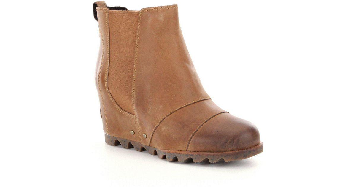 Sorel ® Lea Wedge Chelsea Boots in Brown - Lyst b37b68f4eb10