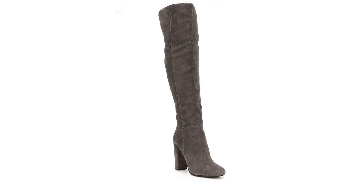 40419d08211 Lyst - Gianni Bini Ventah Suede Slim Calf Over The Knee Boots