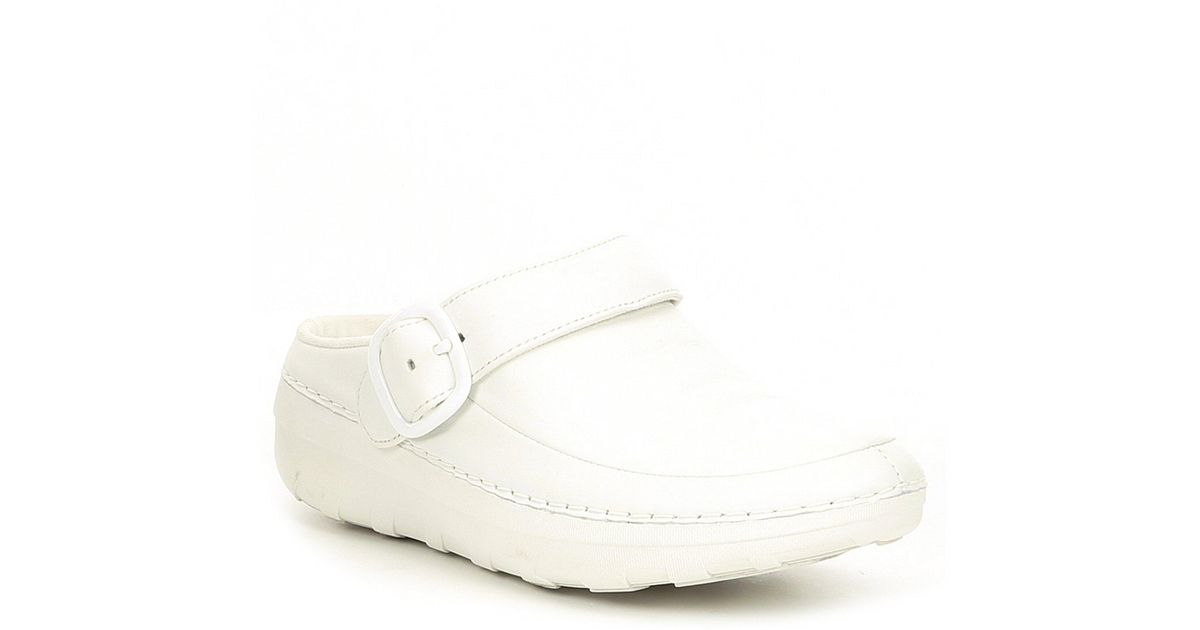 57f52661f4d5 Lyst - Fitflop Gogh Pro Superlight Clogs in White