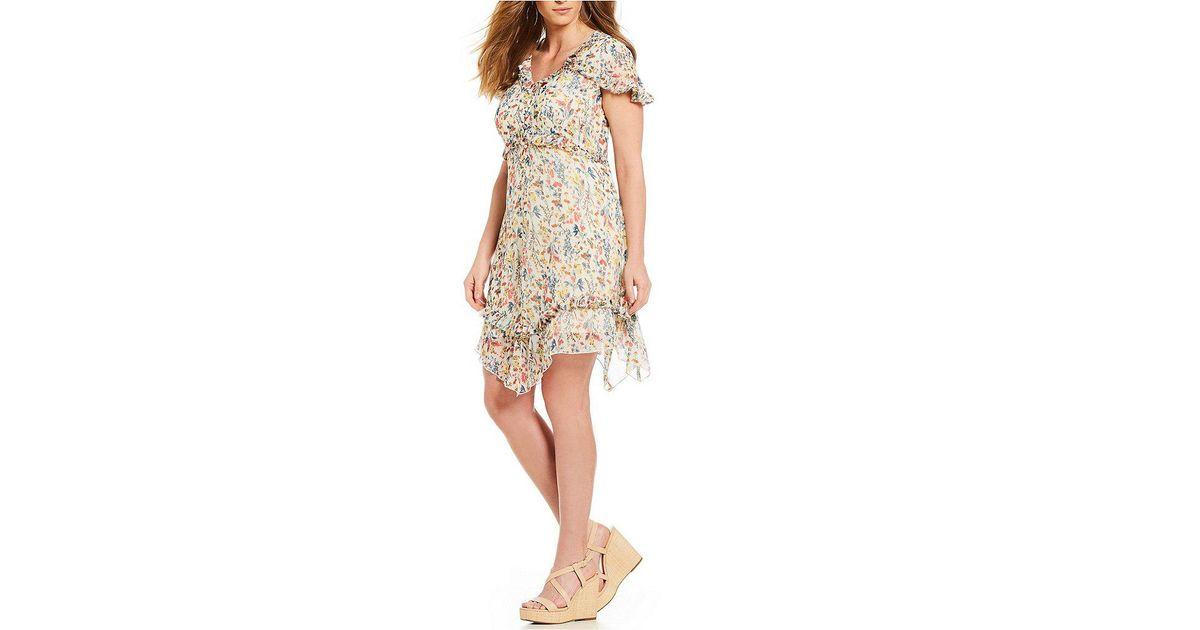 eca1fa2ded Jessica Simpson Plus Size Bliss Prairie Fields Ruffle Dress - Lyst