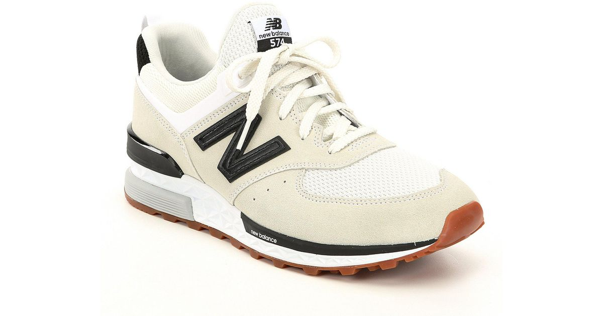 newest 4a43f 646f1 ... germany lyst new balance mens 574 leather sneakers in white for men  b42df 952dd