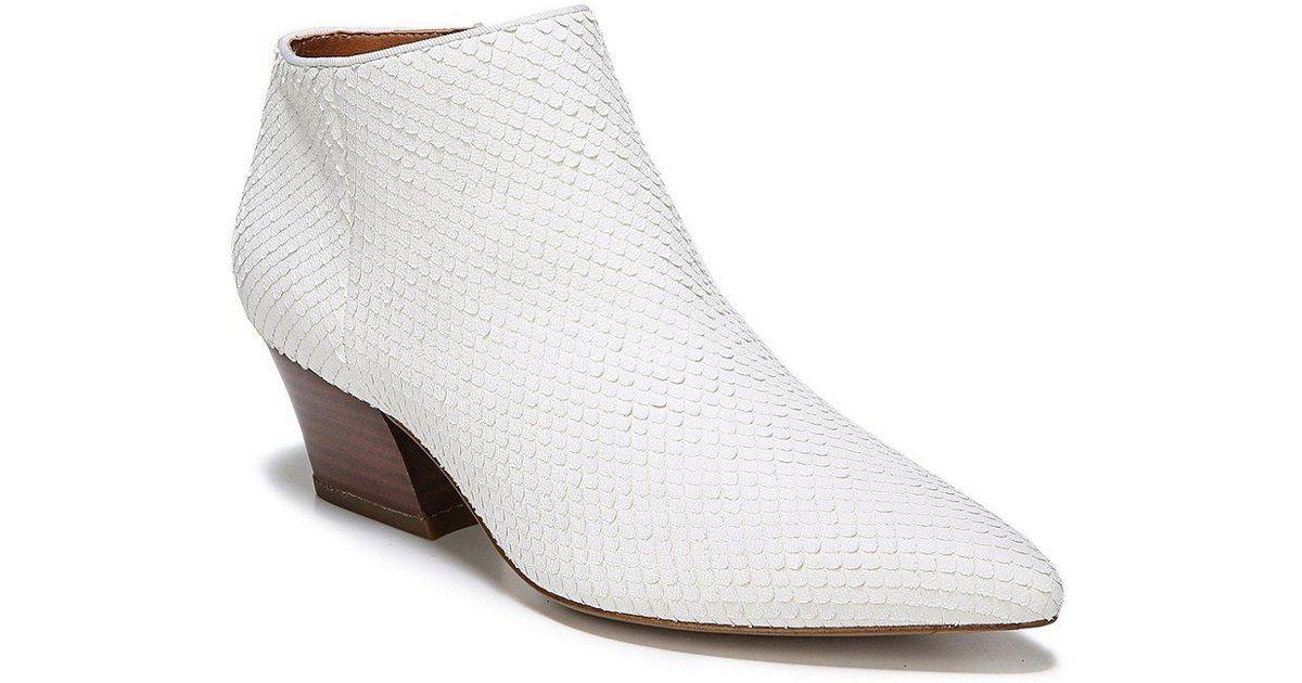 Franco Sarto Sarto by Franco Sarto Lowe 2 Snake Print Leather Block Heel Booties Jyip95PK