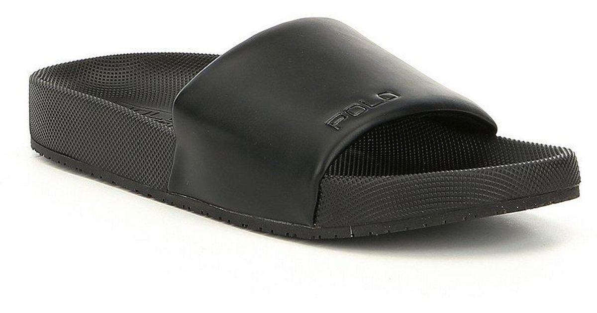 0d9779635 Lyst - Polo Ralph Lauren Men s Cayson Slides in Black for Men