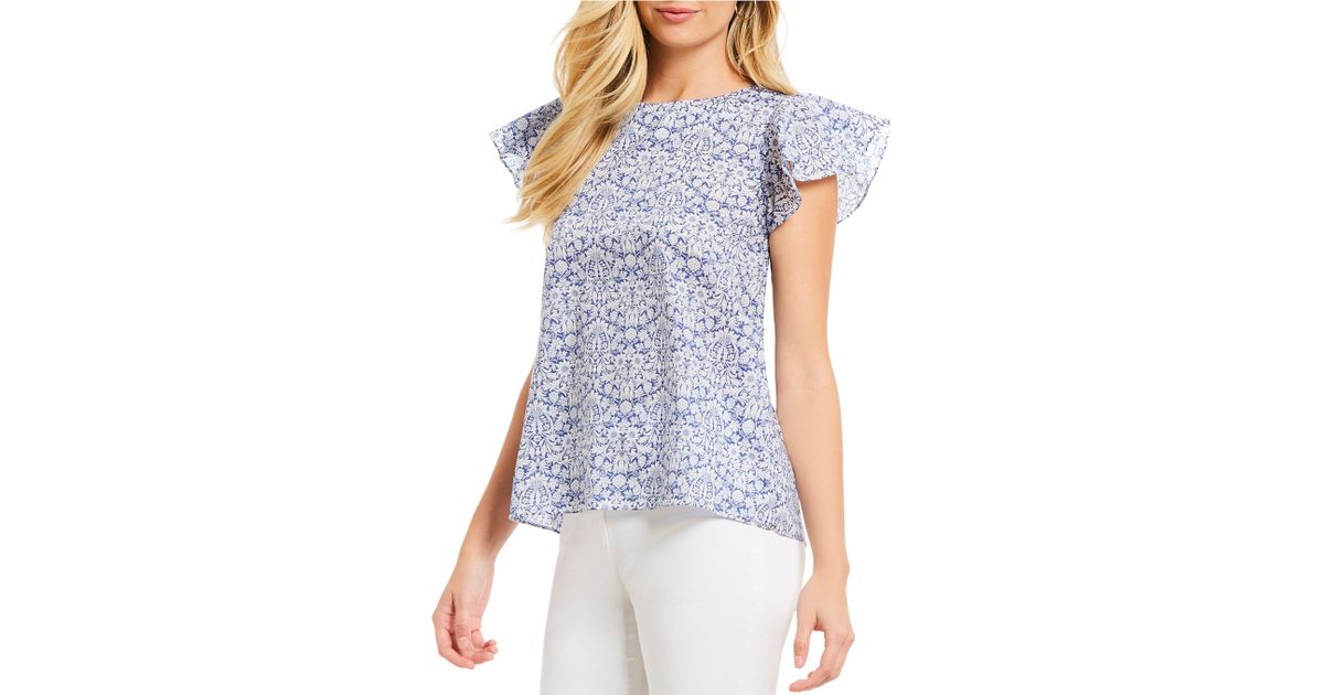 64e091af8fd50 Lyst - Antonio Melani Leia Floral Print Blouse Made With Liberty Fabrics in  Blue