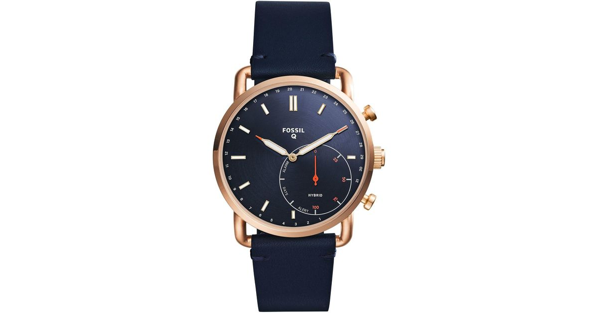 Fossil Hybrid Smartwatch In Blue For Men Save 43 Lyst