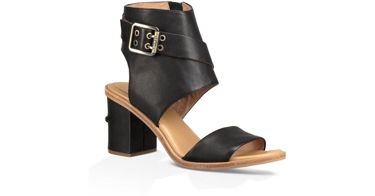 c1c09b8fcddd3 Lyst - Ugg Claudette Block Heel Sandals in Black