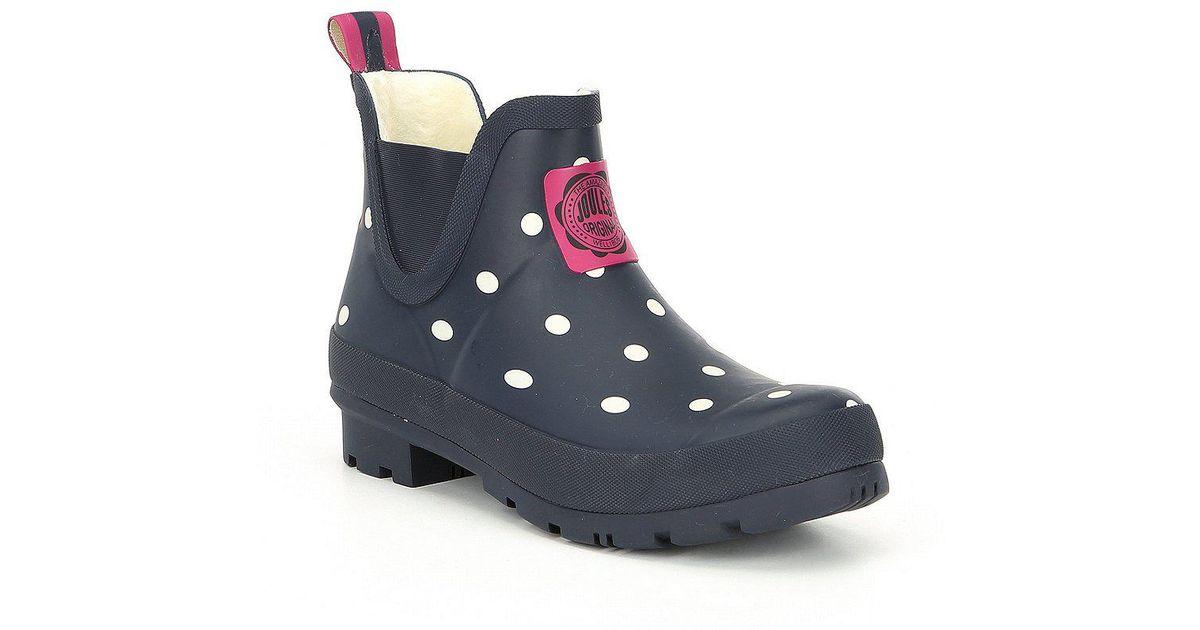 Joules Wellibob Polka Dot Short Rain Boots F4nBgai