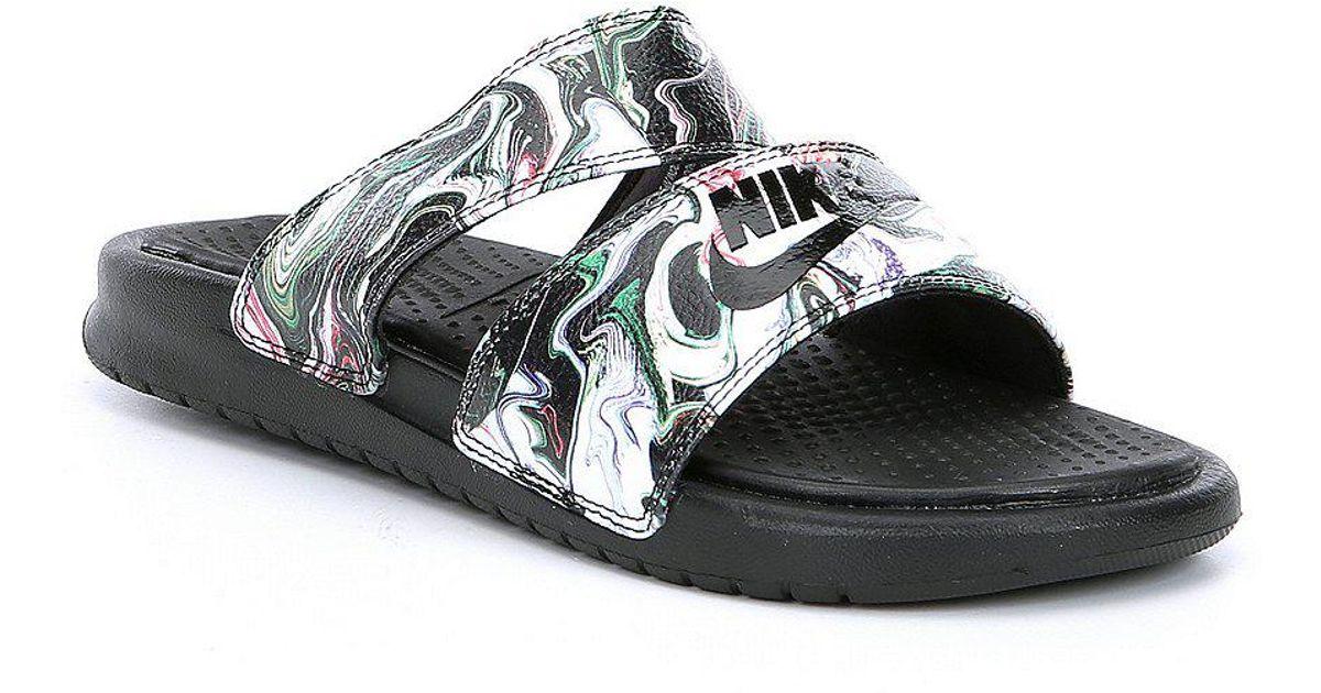 on sale e45ef 244f1 Nike Black Benassi Duo Ultra Slide Sandals for men