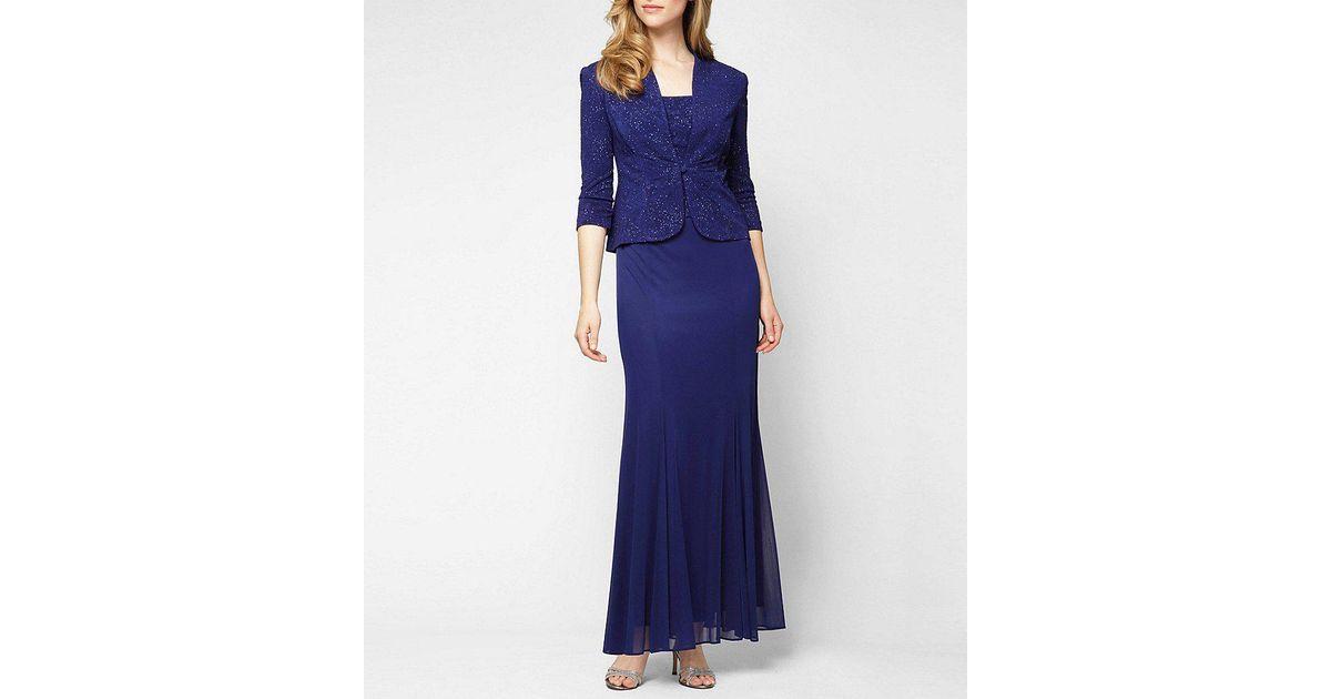 Lyst Alex Evenings Petite Embellished Jacket Dress In Blue
