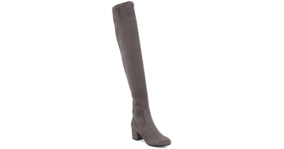 f1e02c33fb2 Lyst - Steve Madden Isaac Over The Knee Dress Boots in Gray