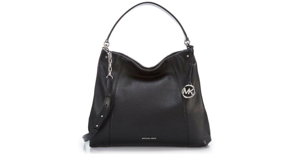 Michael Kors Black Lex Large Convertible Hobo Bag
