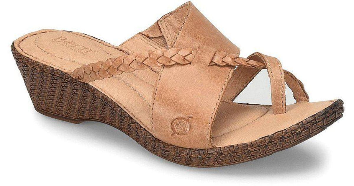Born Thistle Wedge Slide Thong Sandals IXO0GVhVWi