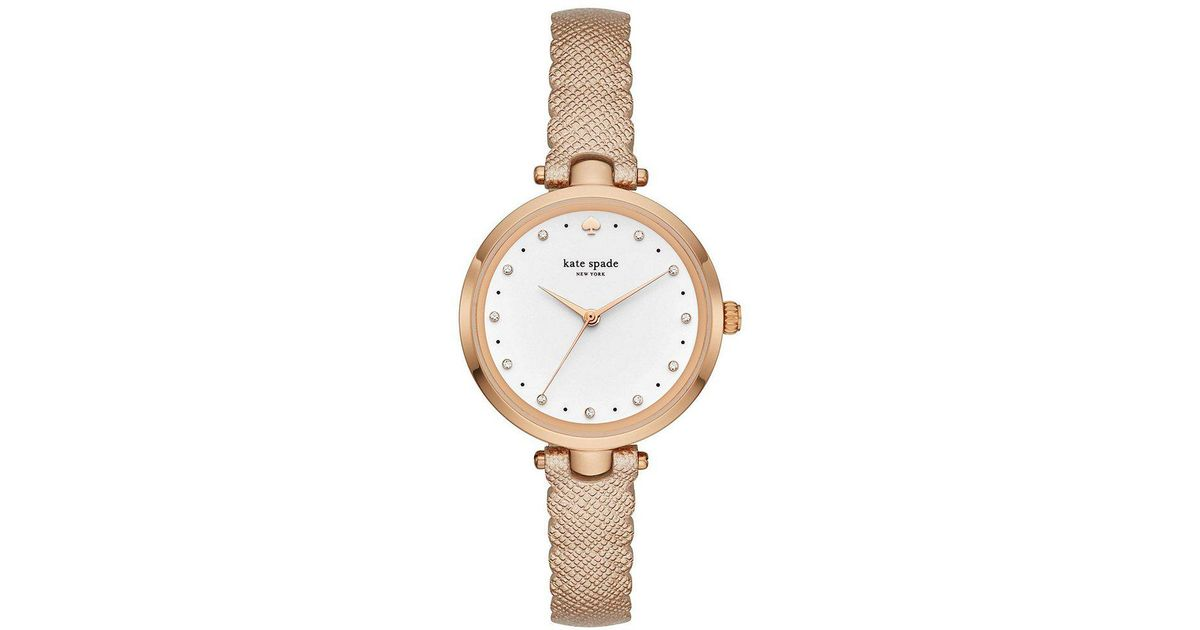 6c6010d365f Lyst - Kate Spade Holland Scalloped Strap Watch in Metallic