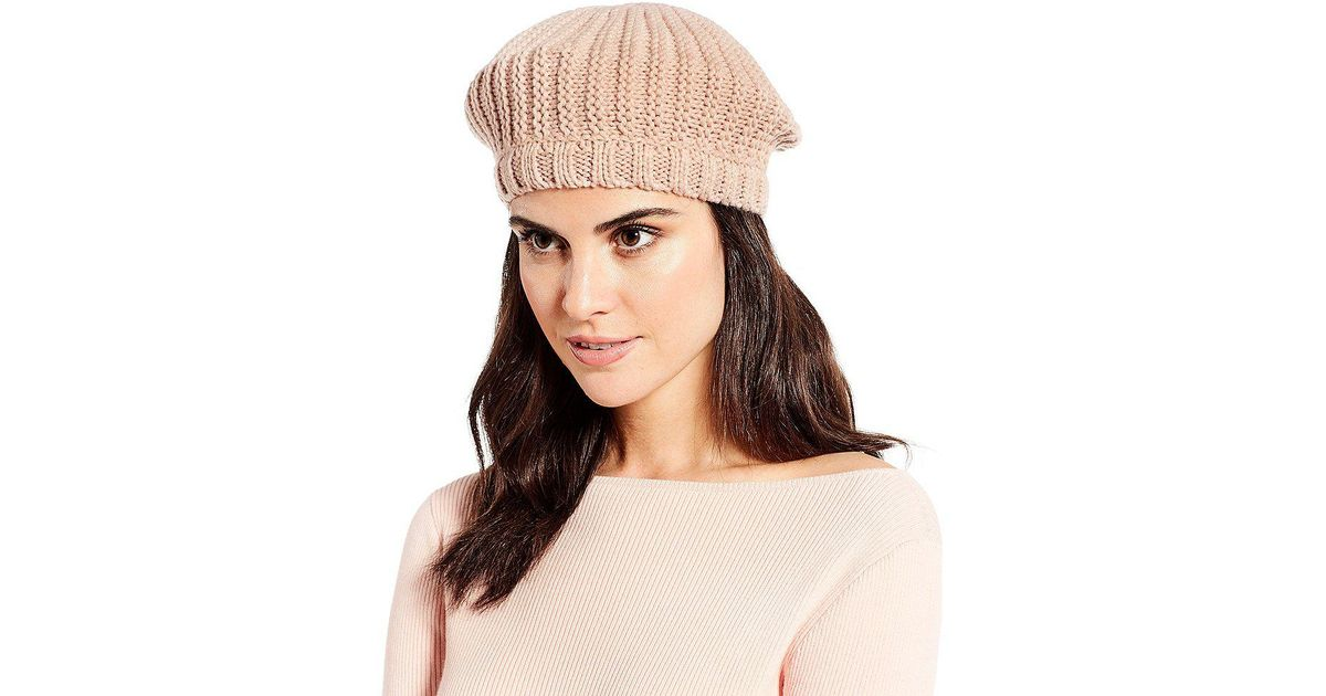 Lyst - Lauren by Ralph Lauren Chunky Knit Beret in Black d33f01e38ea