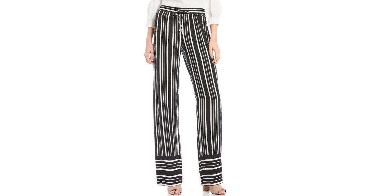 c3d8717937676 Trina Turk Adonia Striped Swing Wide Leg Pant in Black - Save 42% - Lyst
