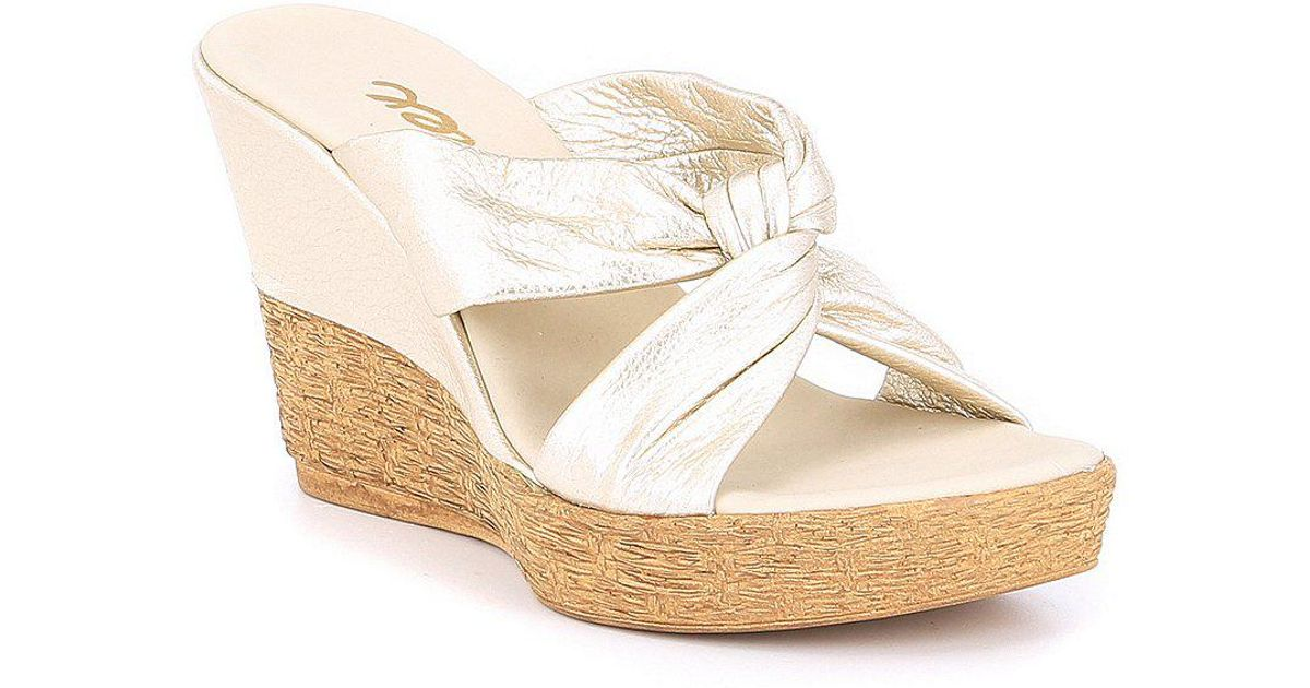 c56d2cb4c28 Lyst - Onex Mindie Wedge Sandals