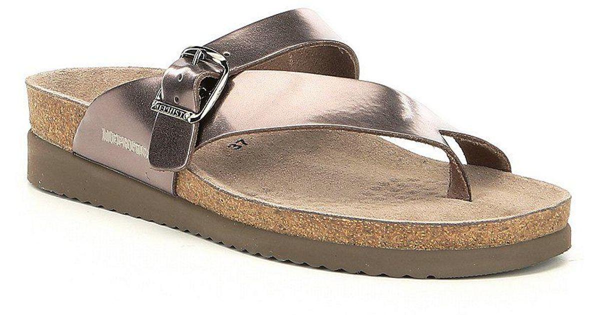Helen Metallic Slide Thong Sandals xu8UL