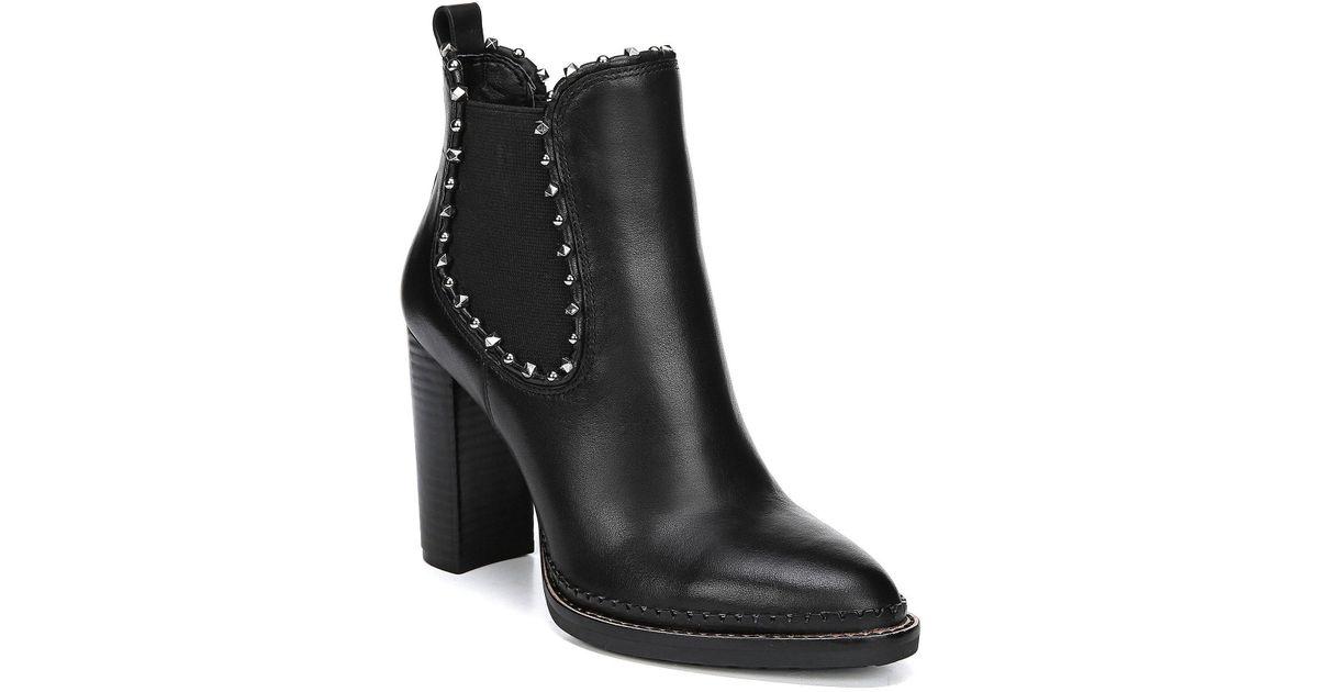 6bdb322a10e Sam Edelman Black Salma Studded Chelsea Boot