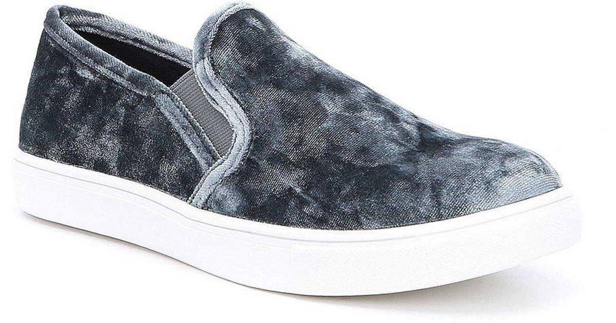 ef86e273736 Steve Madden - Blue Ecntrcv Velvet Sneakers for Men - Lyst