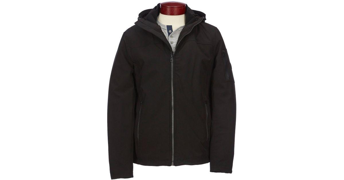 b73ddd81fd4 Lyst - Calvin Klein Sherpa Lined Soft Shell Jacket in Black for Men