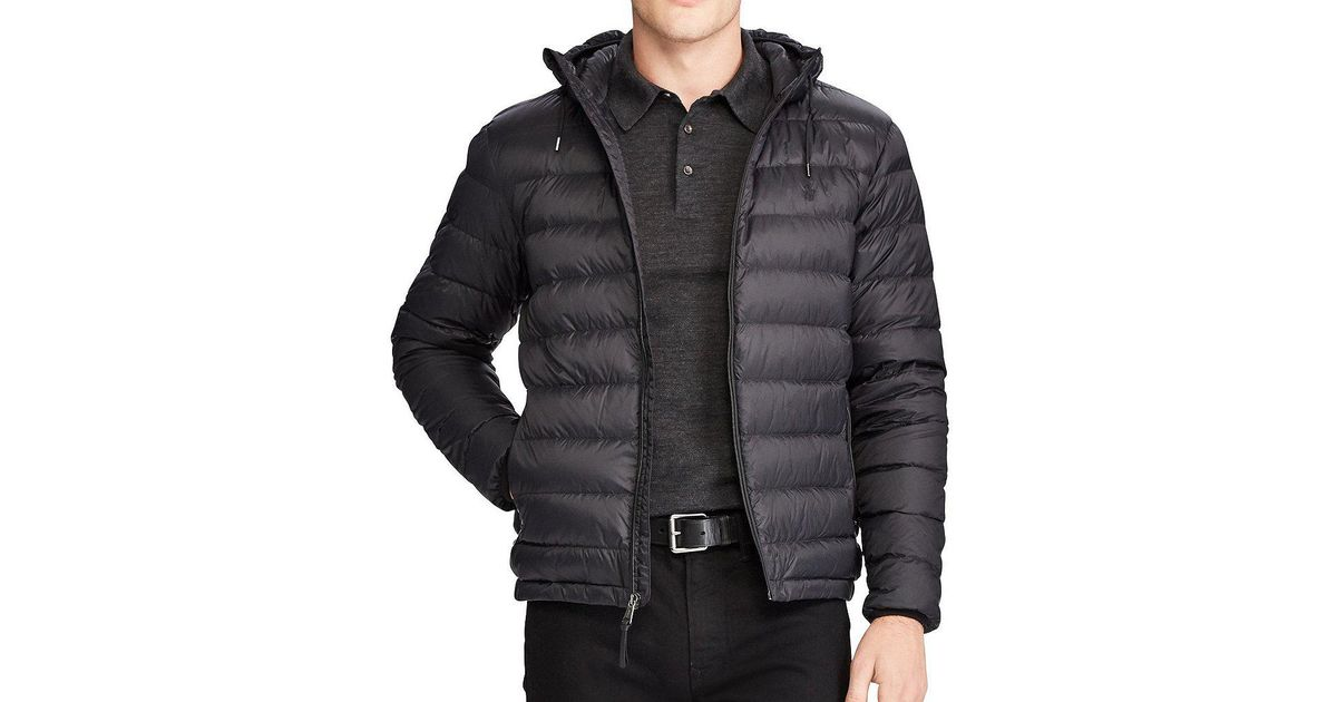 e1c7081adbc6 Lyst - Polo Ralph Lauren Big   Tall Packable Hooded Down Jacket in Gray for  Men