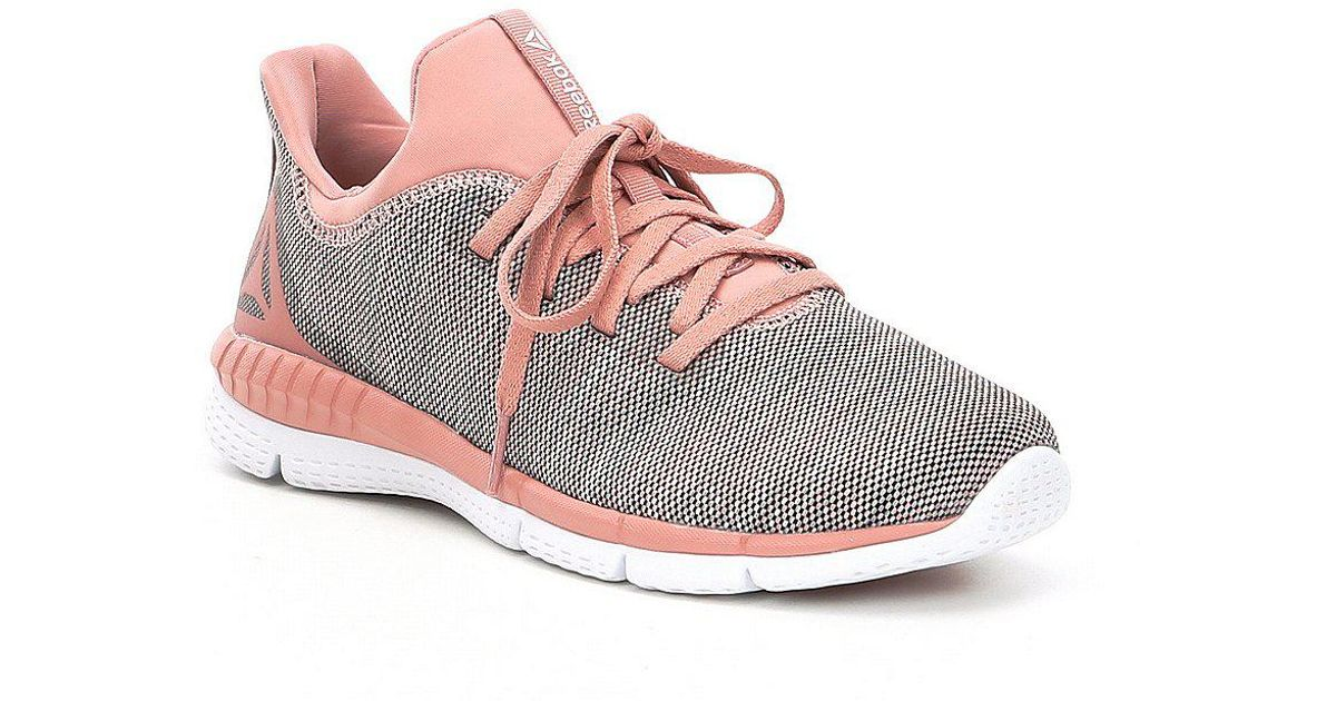 13c76cdda Lyst - Reebok Women s Print Her 2-0 Running Shoes in Pink
