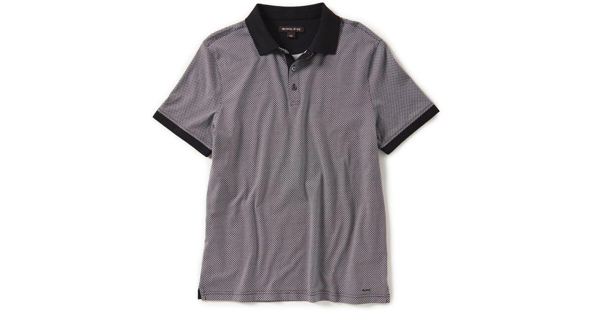 82373ff7 Lyst - Michael Kors Criss Cross Print Short-sleeve Polo Shirt in Black for  Men