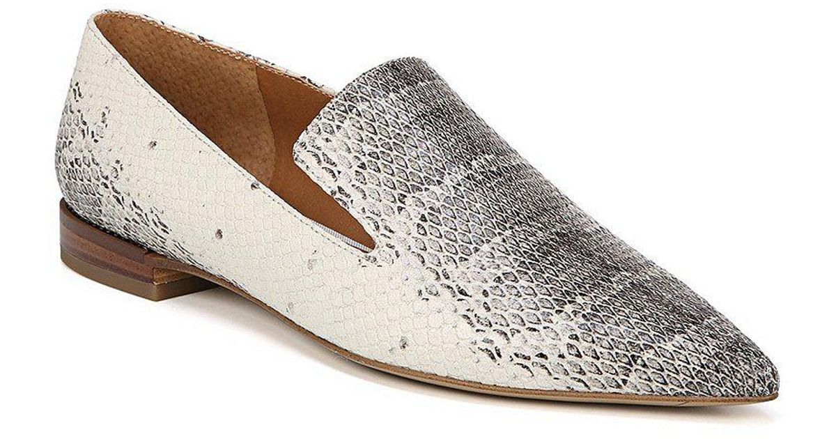 8c1e5c28b34 Lyst - Franco Sarto Sarto By Snake Print Leather Topaz Loafers