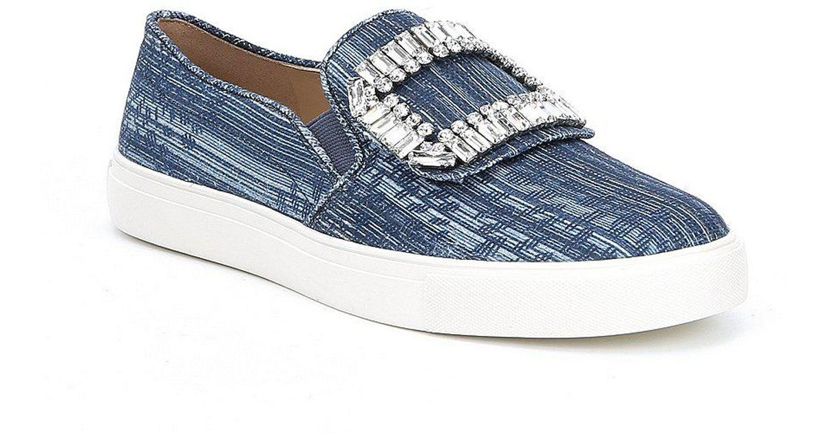 4bb6c26c0c4 Lyst - Karl Lagerfeld Ermine7 Chambray Slip On Sneakers in Blue