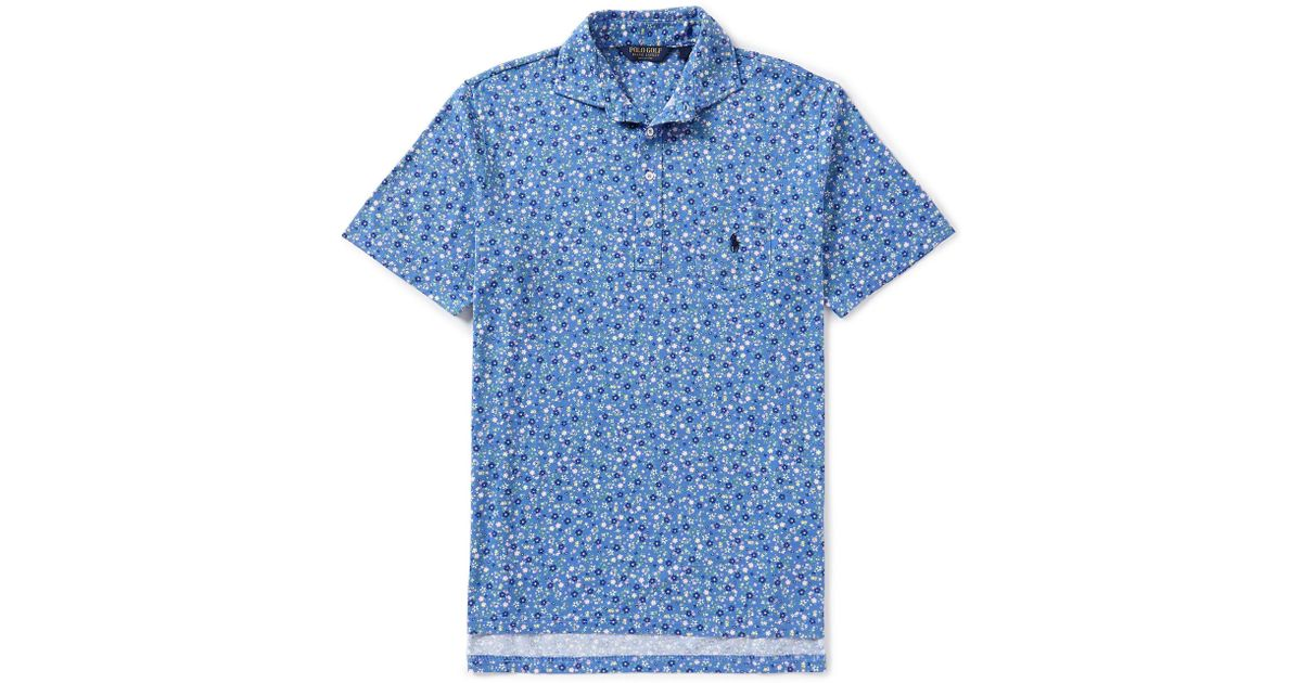 1f2a4f0d3 Polo Ralph Lauren Polo Golf Floral Short-sleeve Polo Shirt in Blue for Men  - Lyst