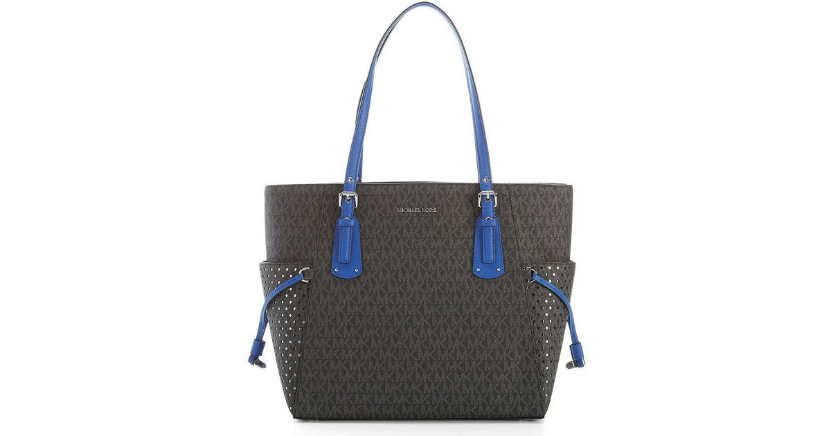 6b9b8e798836 Lyst - MICHAEL Michael Kors Signature Voyager East west Tote in Blue