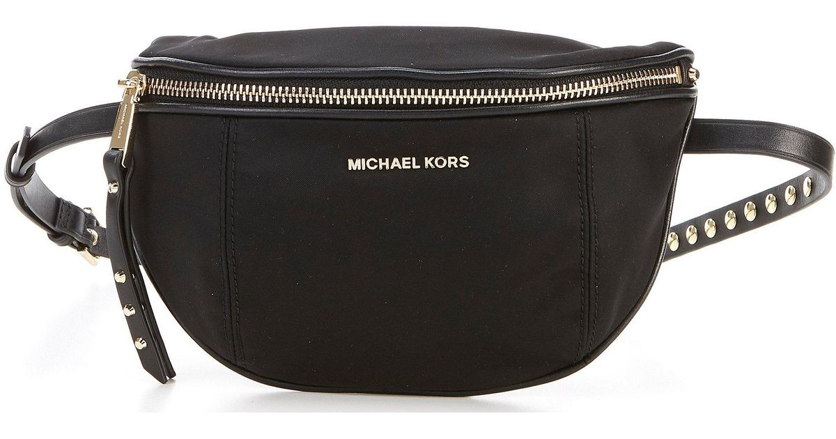 cbea4795b0e3 Lyst - MICHAEL Michael Kors Leila Small Nylon Belt Bag in Black