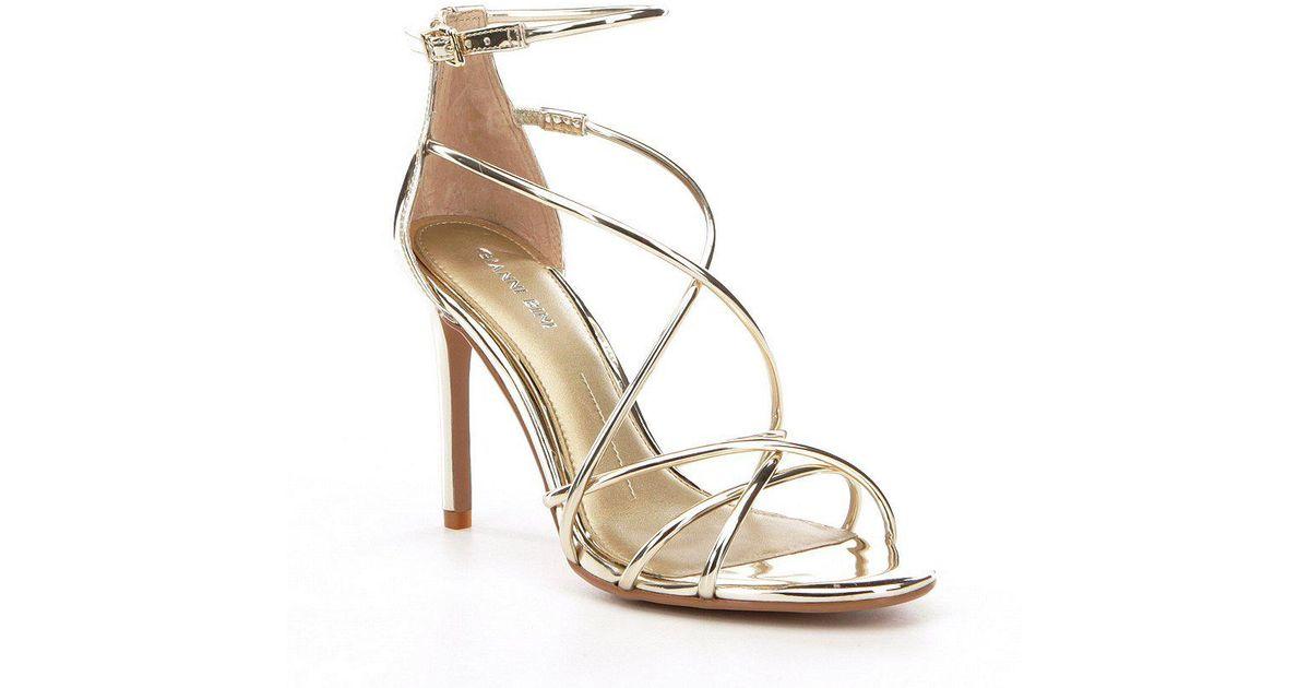 b6ef9e09f8e Gianni Bini Metallic Talisia Tubular Mirrored Strappy Dress Sandals