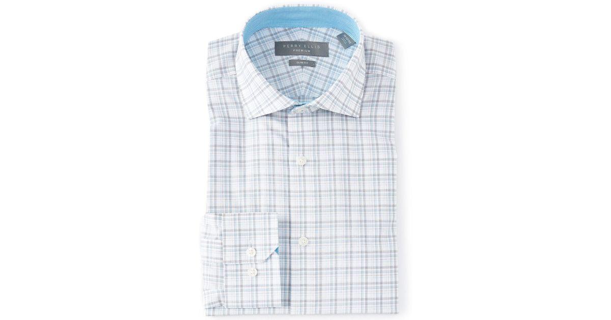Alfa Perry Trim Fit Black Gingham Check Spread Collar Cotton Dress Shirt