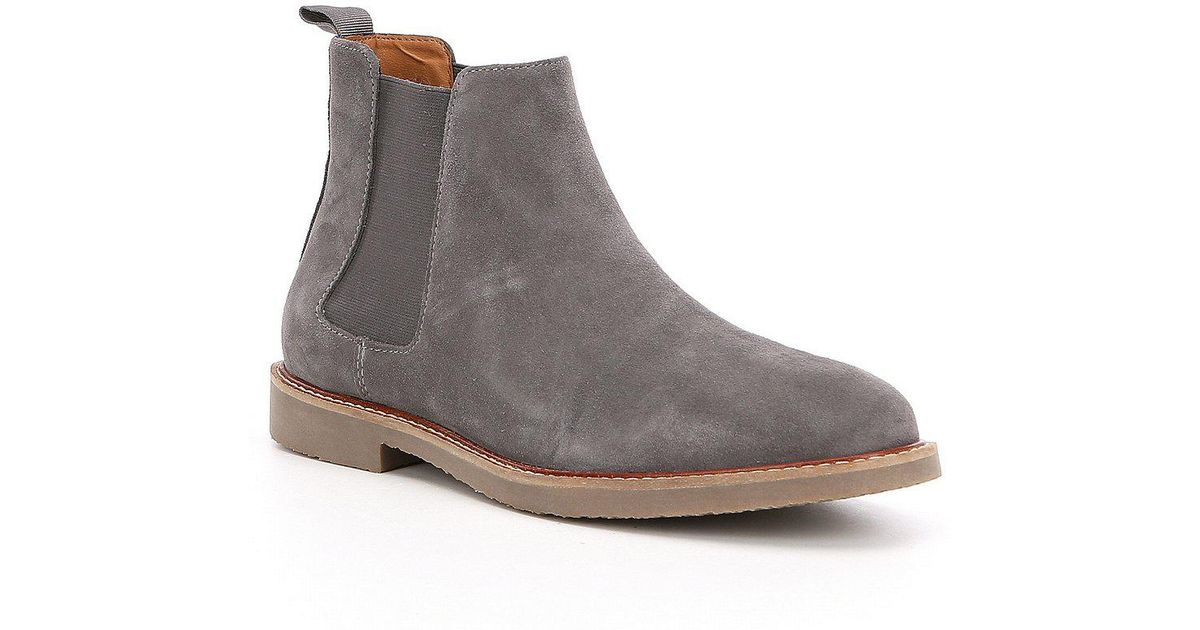 c7a142c0b40 Lyst - Steve Madden Highline Chelsea Suede Boots in Gray