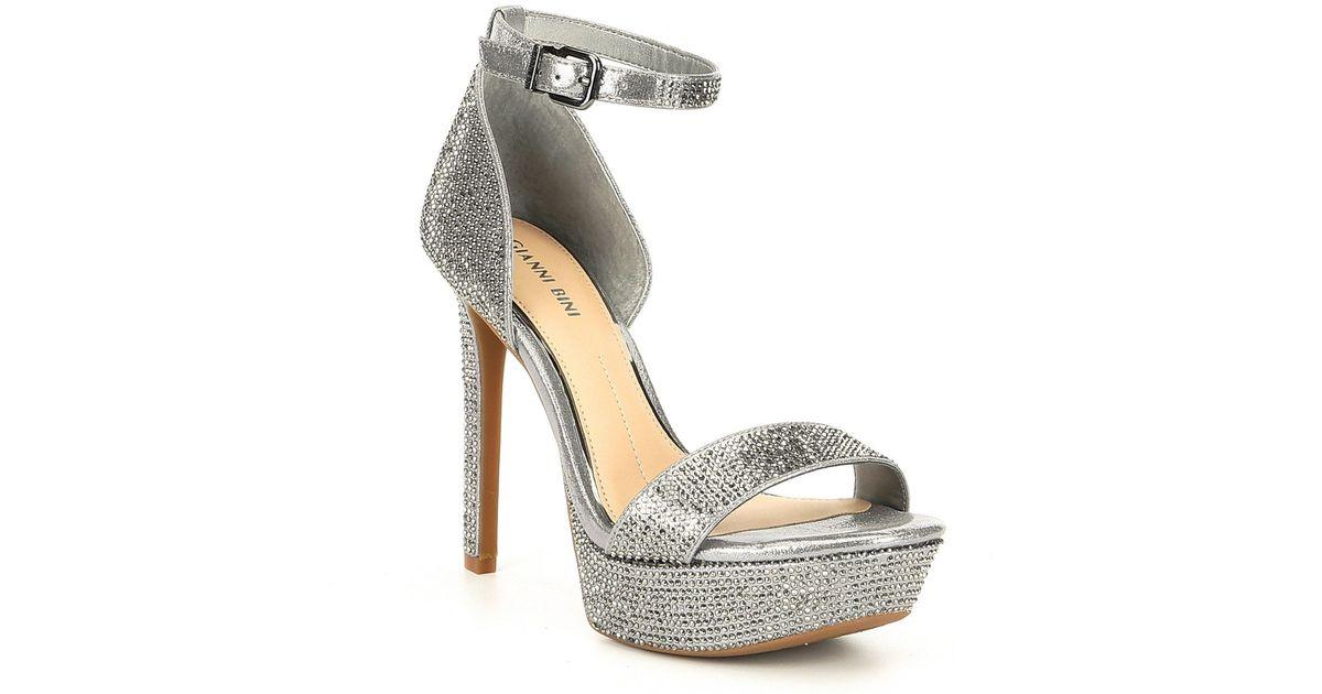 8f5774379 Gianni Bini Jewelson Jeweled Platform Dress Sandals - Lyst