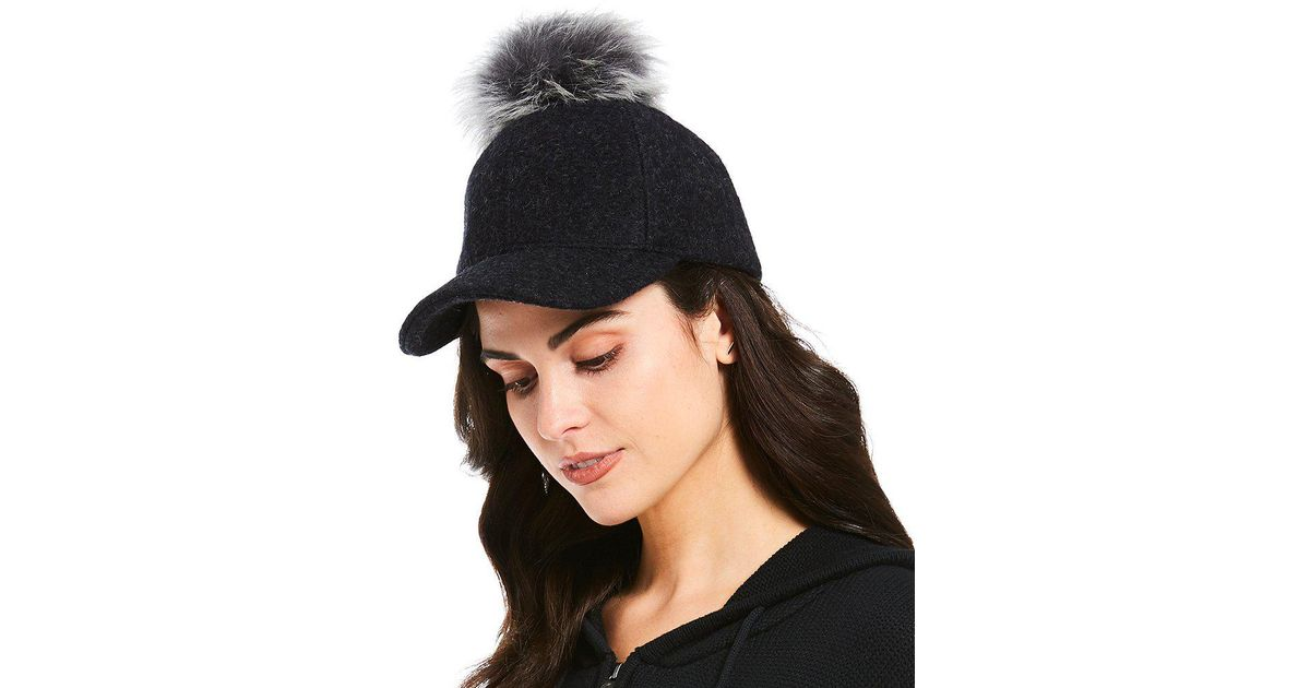 396eca2a01bee Lyst - UGG Shearling-pom Baseball Hat in Black