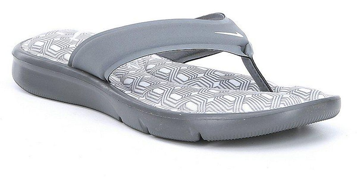 e78cc0371 Lyst - Nike Women s Ultra Comfort Thong Sandals in Gray
