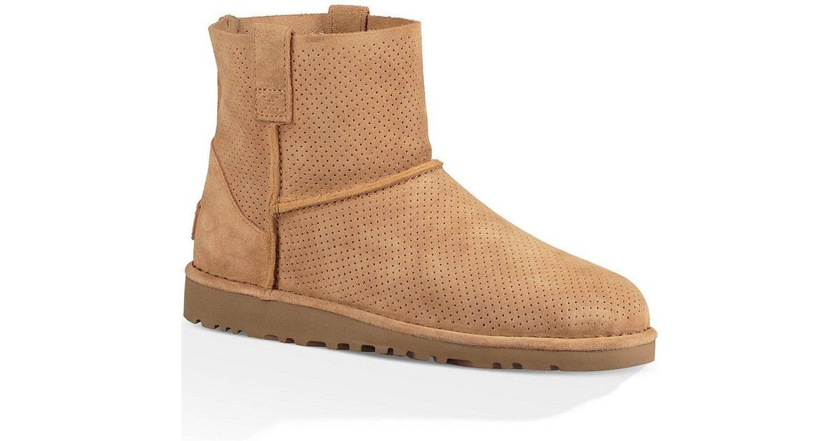 036167e6d86 Ugg Brown ® Classic Unlined Mini Perforated Suede Booties