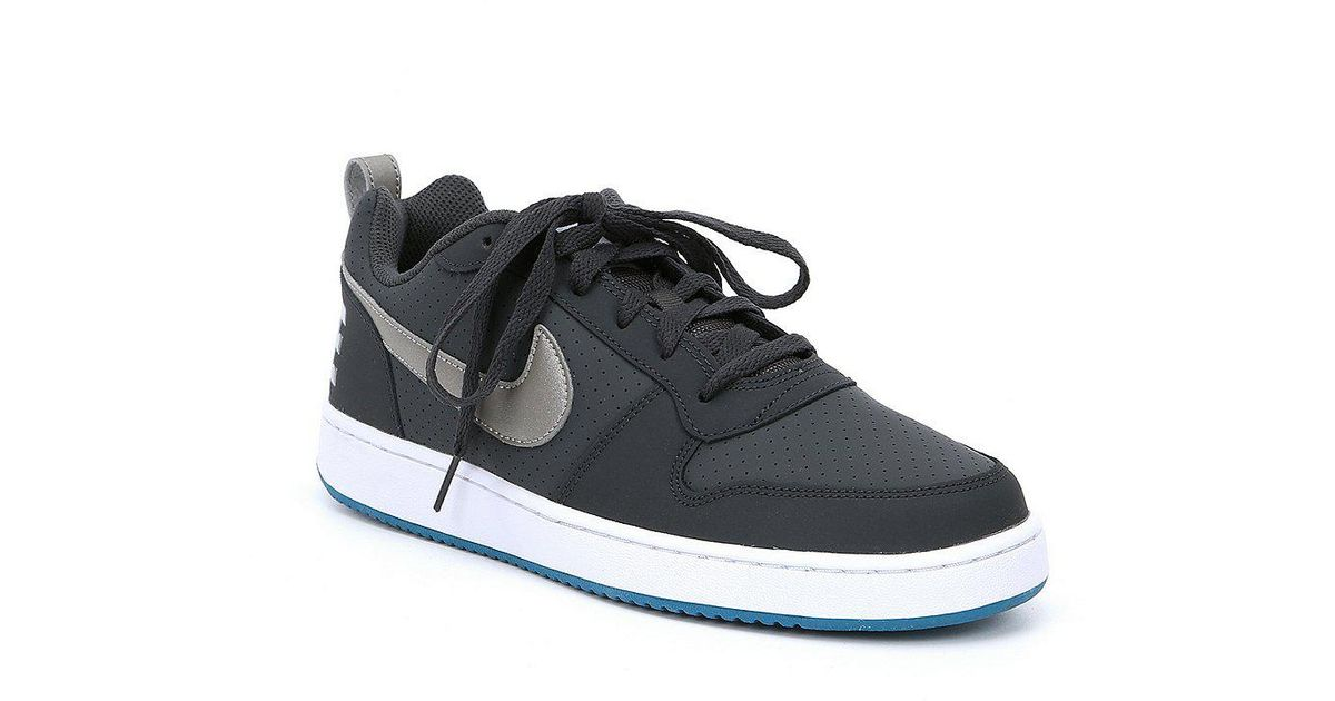 huge discount bf947 68b84 Nike Men S Court Borough Low Lifestyle Basketball Shoes in Black for Men -  Lyst