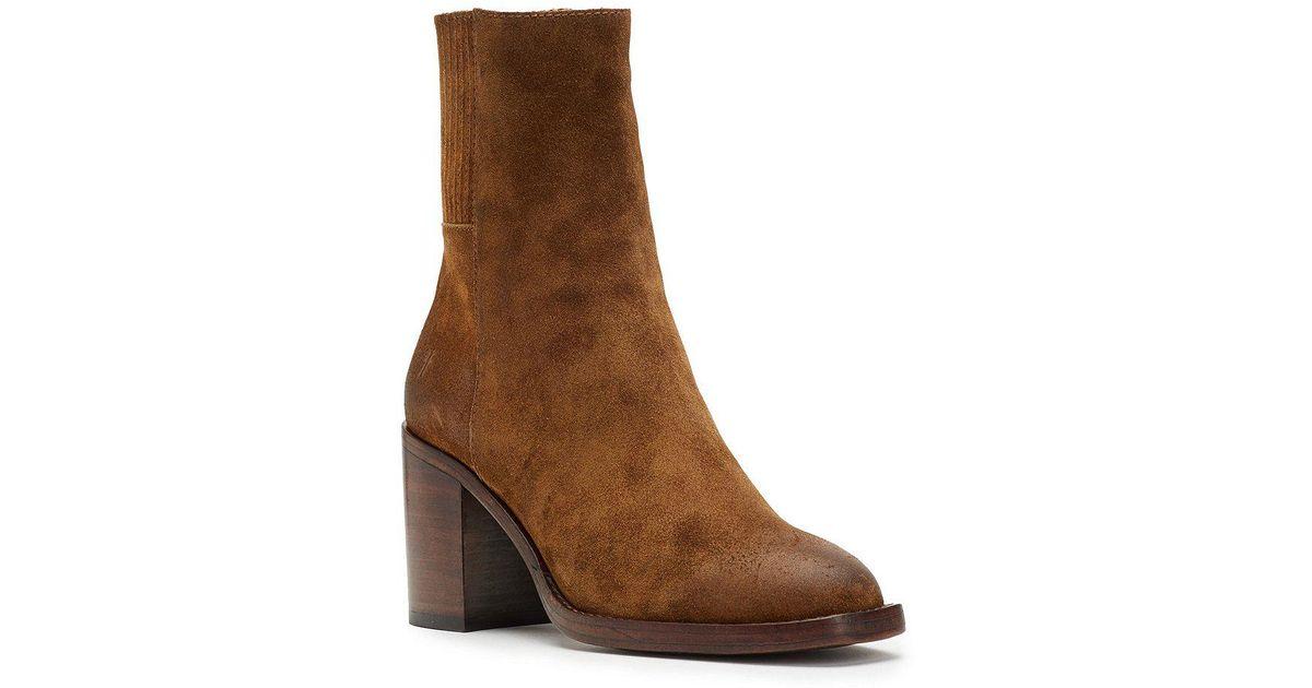 Pia Chelsea Short Block Heel Boots njCdK7pD