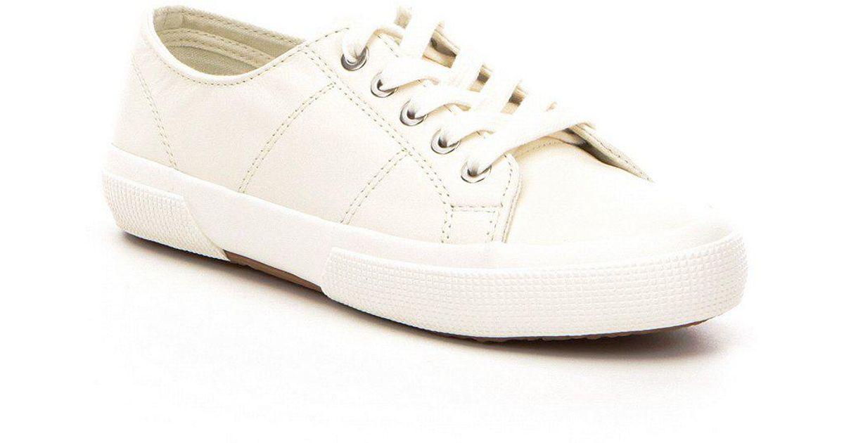 Lauren by Ralph Lauren White Jolie Leather Sneakers